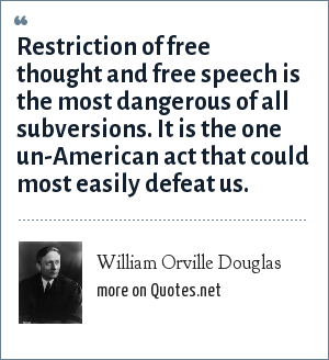 the clear and present danger of the restriction of the right of free speech The dennis decision was criticized as weakening the clear-and-present-danger test and allowing the government too much freedom to restrict speech these results were remedied somewhat in brandenburg v.