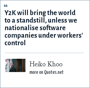 Heiko Khoo: Y2K will bring the world to a standstill, unless we nationalise software companies under workers' control