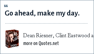 Dean Riesner, Clint Eastwood as Dirty Harry in