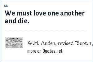 W.H. Auden, revised