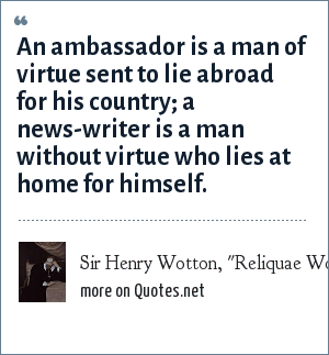 Sir Henry Wotton,