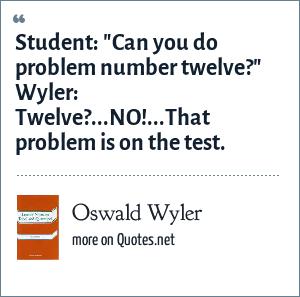 Oswald Wyler: Student: