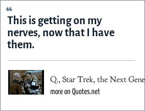 Q., Star Trek, the Next Generation,
