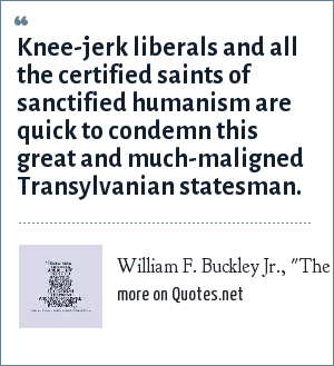 William F. Buckley Jr.,