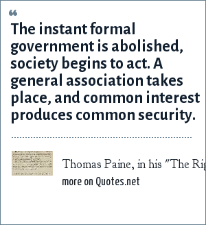 Thomas Paine, in his