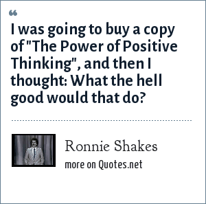 Ronnie Shakes: I was going to buy a copy of