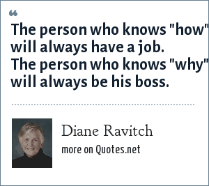 Diane Ravitch: The person who knows