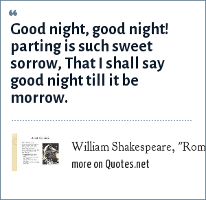 william shakespeare romeo and juliet act scene good night