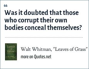 Walt Whitman,