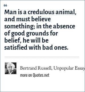 Bertrand Russell, Unpopular Essays (1950),
