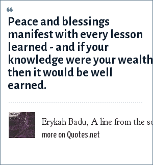 Erykah Badu, A line from the song