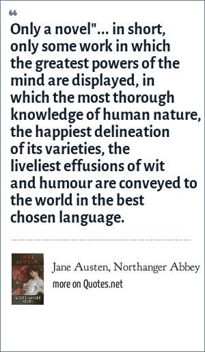 Jane Austen, Northanger Abbey: Only a novel