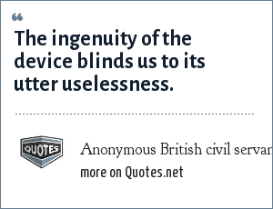 Anonymous British civil servant,