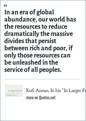 Kofi Annan, In his