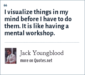 Jack Youngblood: I visualize things in my mind before I have to do them. It is like having a mental workshop.