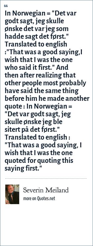 Severin Meiland: In Norwegian =