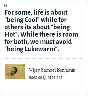 Vijay Samuel Benjamin: For some, life is about