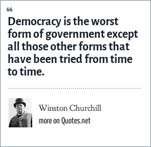 winston churchill democracy quote