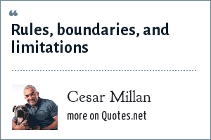 Cesar Millan: Rules, boundaries, and limitations