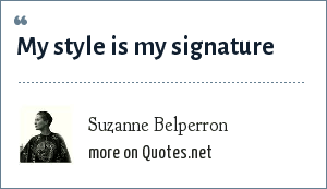 Suzanne Belperron: My style is my signature