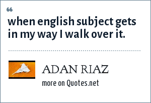 the english subject